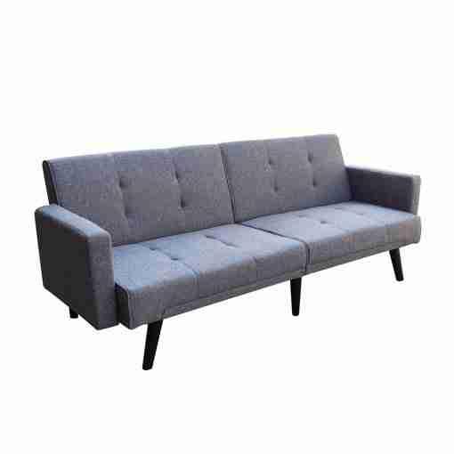 Sofá-cama gris Siena 192x75x76cm